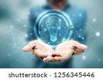 bulb future technology ... | Shutterstock . vector #1256345446