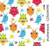 monster pattern design. vector illustration