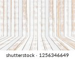 white wood texture background | Shutterstock . vector #1256346649