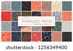 terrazzo seamless pattern... | Shutterstock .eps vector #1256349400