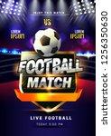 innovative design football... | Shutterstock .eps vector #1256350630