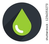 green drop icon ecology sign on ... | Shutterstock .eps vector #1256353273