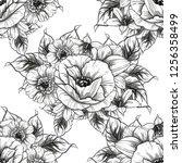 flower print. elegance seamless ... | Shutterstock .eps vector #1256358499