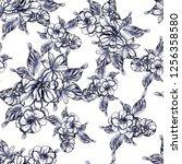 flower print. elegance seamless ... | Shutterstock .eps vector #1256358580