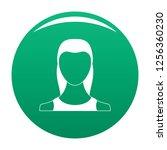 female avatar icon. simple...