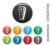 coffin icon. simple... | Shutterstock . vector #1256367436