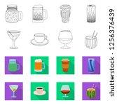vector illustration of drink... | Shutterstock .eps vector #1256376439
