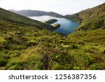 panoramic view point... | Shutterstock . vector #1256387356