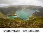 panoramic view point... | Shutterstock . vector #1256387386
