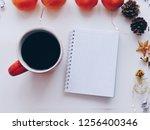 home office workspace mockup... | Shutterstock . vector #1256400346