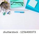 home office workspace mockup... | Shutterstock . vector #1256400373