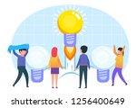 working idea  startup launch.... | Shutterstock .eps vector #1256400649