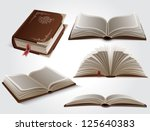 books | Shutterstock .eps vector #125640383