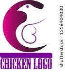 beautiful chicken logo | Shutterstock .eps vector #1256404030