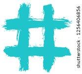 number symbol or hashtag symbol ... | Shutterstock .eps vector #1256406856