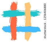 number symbol or hashtag symbol ... | Shutterstock .eps vector #1256406880