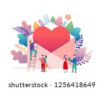 happy valentines day  love... | Shutterstock .eps vector #1256418649