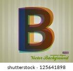 color transparency letter....   Shutterstock .eps vector #125641898