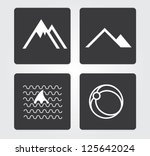 web icons set  travel | Shutterstock .eps vector #125642024