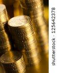 money  coins background | Shutterstock . vector #125642378