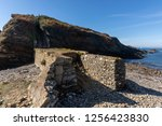 dyke bridge in ruins towards an ...   Shutterstock . vector #1256423830