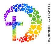 baptism card design. cross... | Shutterstock .eps vector #1256424556