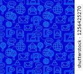 illustration of communication... | Shutterstock .eps vector #1256425270