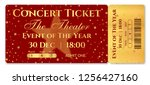 admission ticket template.... | Shutterstock .eps vector #1256427160