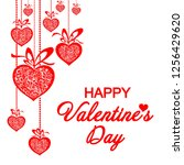 happy valentine's day ... | Shutterstock .eps vector #1256429620
