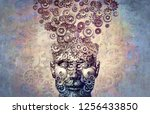 creativity mind psychology and... | Shutterstock . vector #1256433850