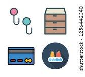 store icon set. vector set... | Shutterstock .eps vector #1256442340