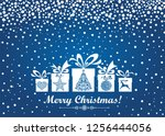 christmas card. celebration... | Shutterstock .eps vector #1256444056