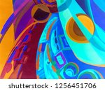 abstract texture. oil  acrylic... | Shutterstock . vector #1256451706