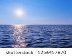 the sun over the sea  adriatic. ... | Shutterstock . vector #1256457670