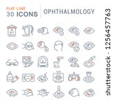 set of vector line icons of... | Shutterstock .eps vector #1256457763