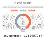 linear banner of plastic... | Shutterstock .eps vector #1256457769