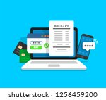 notification on financial... | Shutterstock .eps vector #1256459200