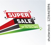 sale and special offer tag ... | Shutterstock .eps vector #1256465896
