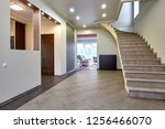 entrance hall  with a beautiful ... | Shutterstock . vector #1256466070