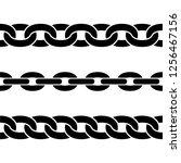 set of black isolated... | Shutterstock .eps vector #1256467156