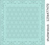 design of a scarf with a... | Shutterstock .eps vector #1256477470