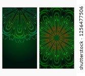 vector mandala pattern.... | Shutterstock .eps vector #1256477506