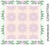 design print. the pattern of... | Shutterstock .eps vector #1256477533