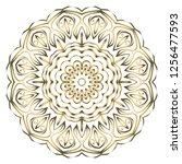 round pattern flower mandala.... | Shutterstock .eps vector #1256477593
