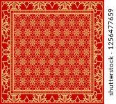floral geometric pattern.... | Shutterstock .eps vector #1256477659