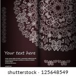 ornamental round lace pattern ...   Shutterstock .eps vector #125648549