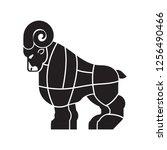 cut of meat ram. sheep... | Shutterstock .eps vector #1256490466