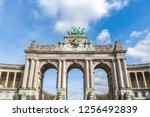 brussels triumphal arch... | Shutterstock . vector #1256492839
