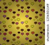 valentines day. seamless... | Shutterstock .eps vector #1256501149