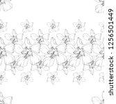 seamless pattern. plant in... | Shutterstock .eps vector #1256501449